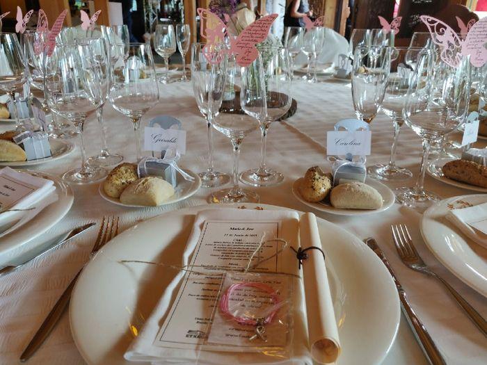Nombre de invitados en las mesas 16
