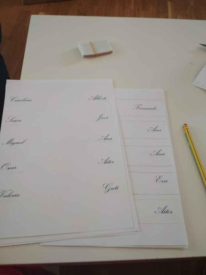 Nombre de invitados en las mesas - 1