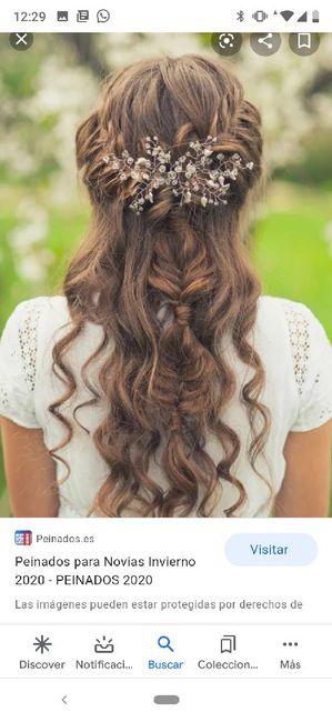 Peinado - vestido espalda especial - 2