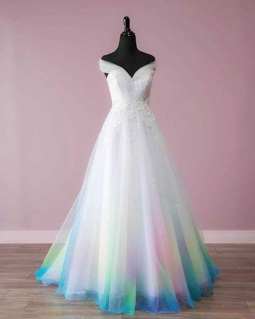 ¿Vestido de novia de color? 4