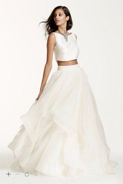 vestido novia dos piezas - moda nupcial - foro bodas