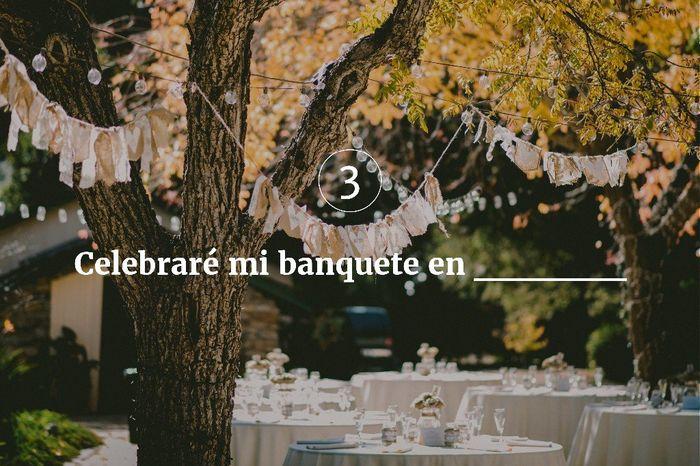 3. Celebraré mi banquete en ______ 1