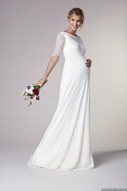 Vestido novia premama