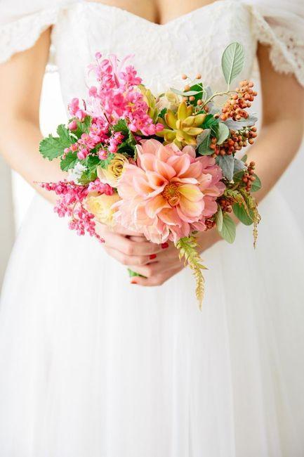 Las flores de mi ramo serán _____ 1