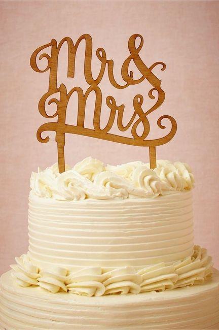 Hoy daría el SÍ, QUIERO con este cake topper 1