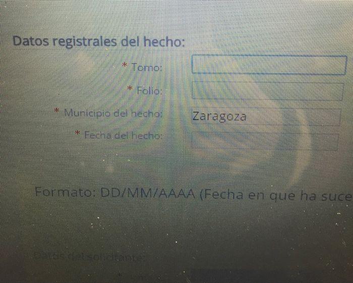 Certificado literal de nacimiento - Zaragoza - Foro Bodas.net