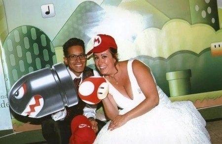 Boda temática de Mario Bros 10