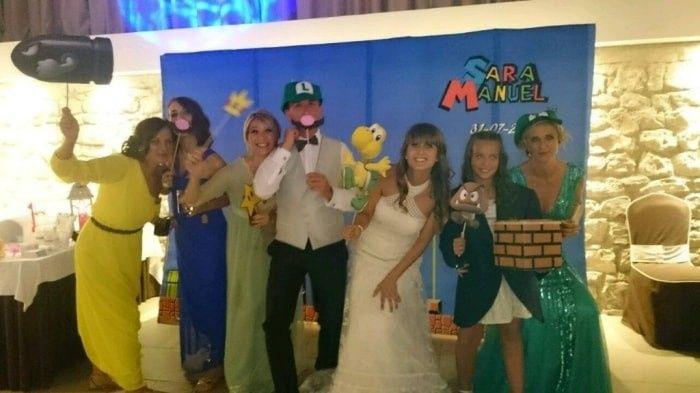 Boda temática de Mario Bros 13