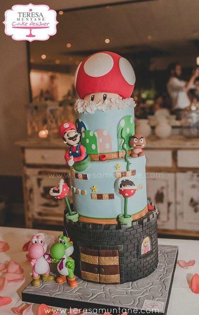 Boda temática de Mario Bros 30