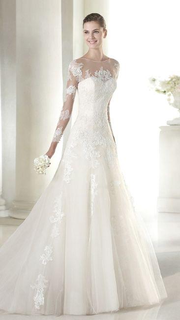 mangas de tres cuartos en vestido de novia - moda nupcial - foro