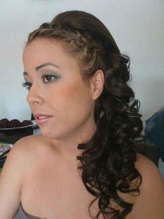 mi peinado y maquillaje