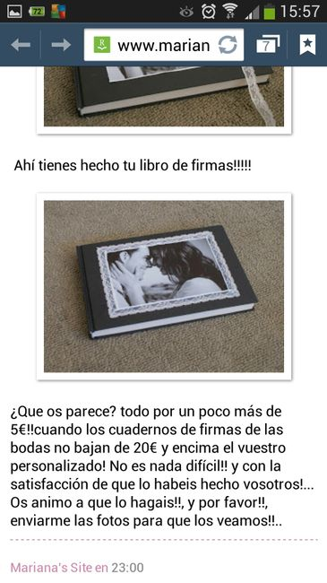 Libro de firmas casero!!!! help me - 1