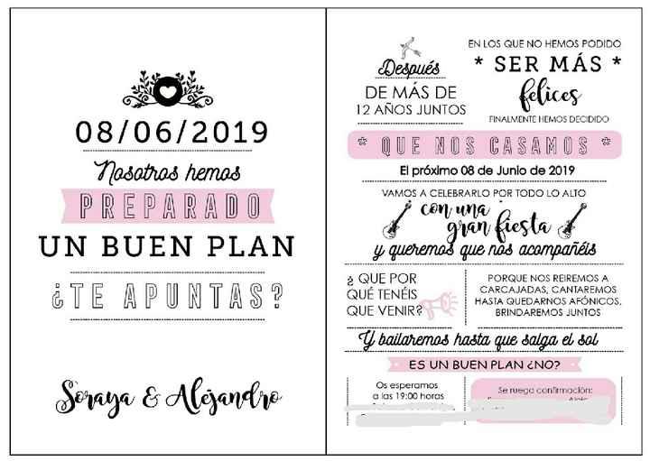 Feliz boda invitaciones - 1