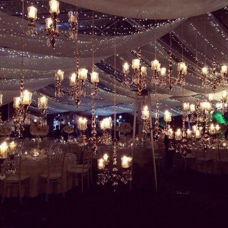 Decoracion salon de boda con telas y luces organizar una for Telas para visillos de salon