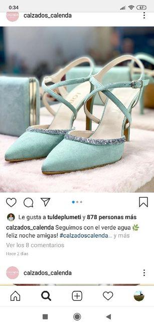 Sandalias verde agua 11