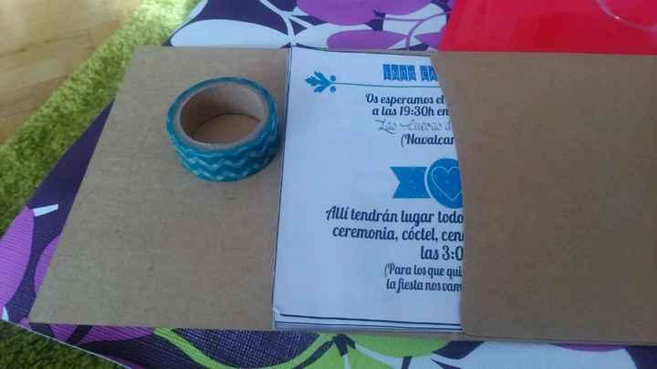 Sobres invitaciones washi tape - 3