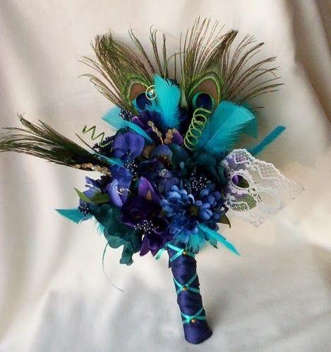 idea de ramo con plumas