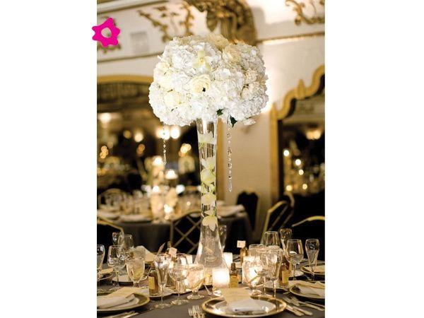 Centros de mesa organizar una boda foro - Cristales de colores para mesas ...