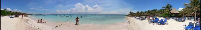 Panorámica playa Akumal