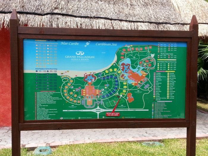 Mapa del hotel! Grand Palladium en Riviera Maya
