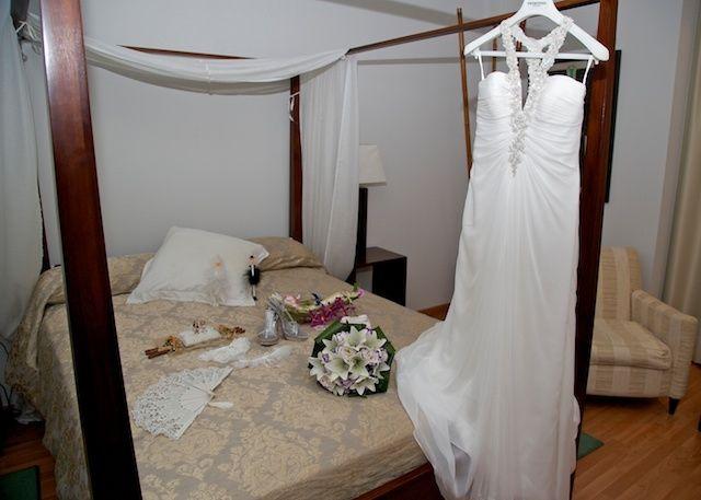 preparar la habitación de la novia para las fotos. - antes de la