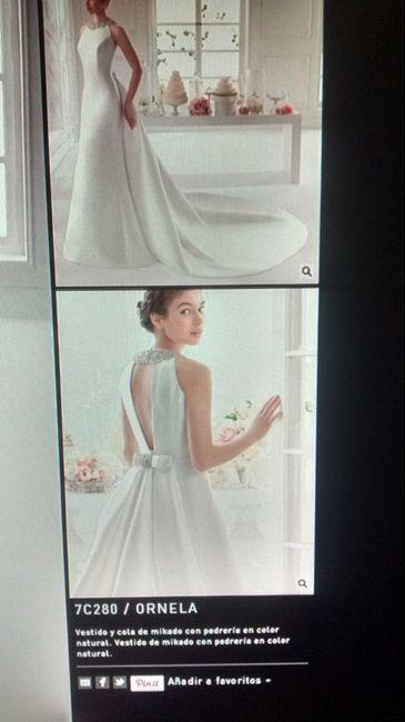 Vestido novia con cola desmontable - ayuda - 1