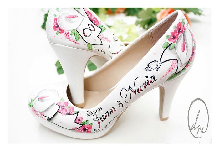 mis zapatos personalizados!! - moda nupcial - foro bodas