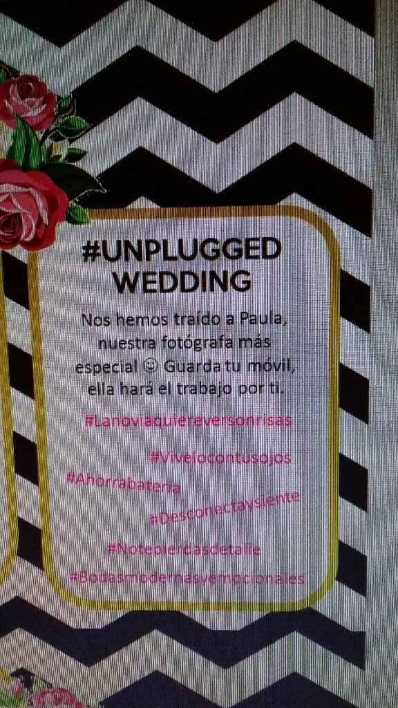 Ceremonia desconectada / unplugged wedding - 1