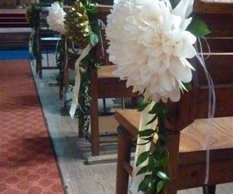 Decoracion Con Flores De Papel Iglesia Ceremonia Nupcial Foro