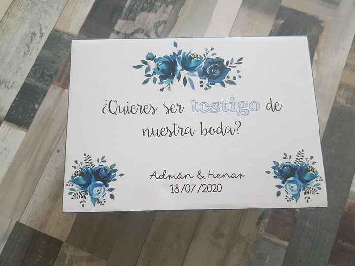 Forma original de pedir que sean testigos de nuestra boda - 2