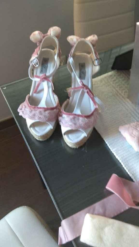 mis zapatos de boda y zapatillas de Después tuneadas y Listas!! - 1