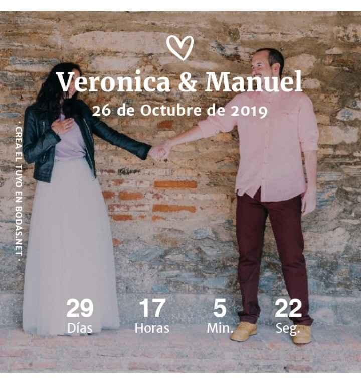 ¡Comparte tu contador de boda! 😄💍 - 1