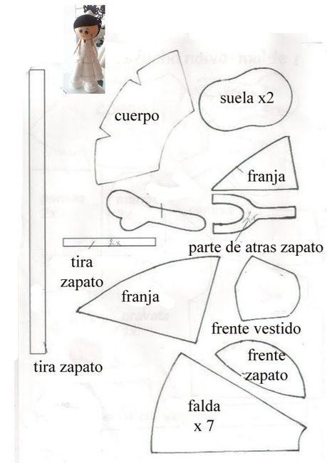 Fofuchas de goma eva - patrones - Manualidades - Foro Bodas.net