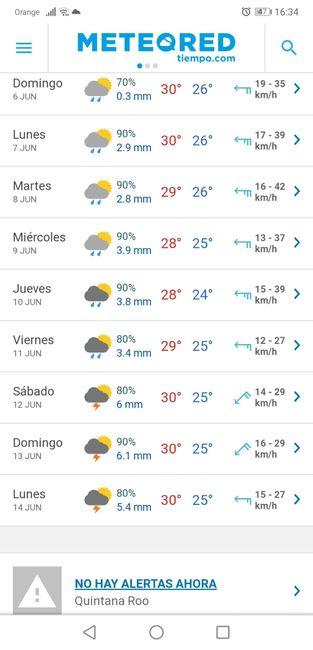 Lluvias en junio riviera maya 1