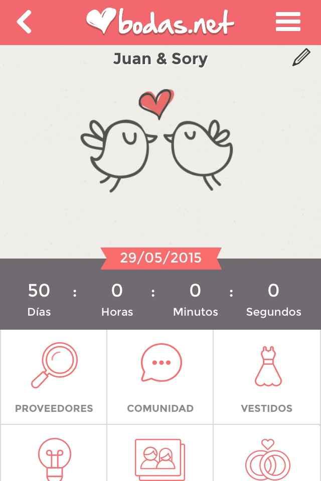 50 días para nuestra boda - 1