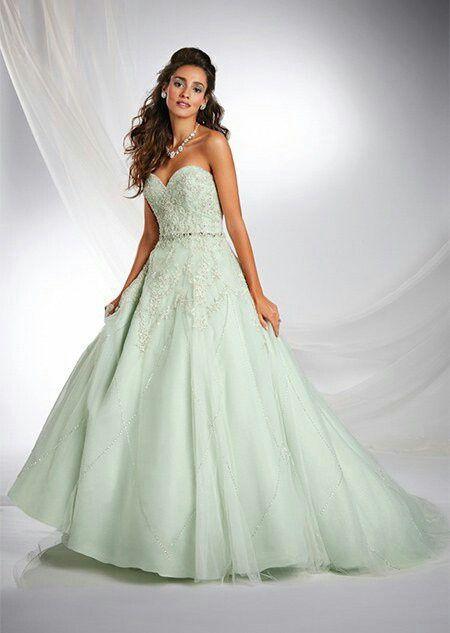 Vestido de novia verde, lo llevarías? - 1