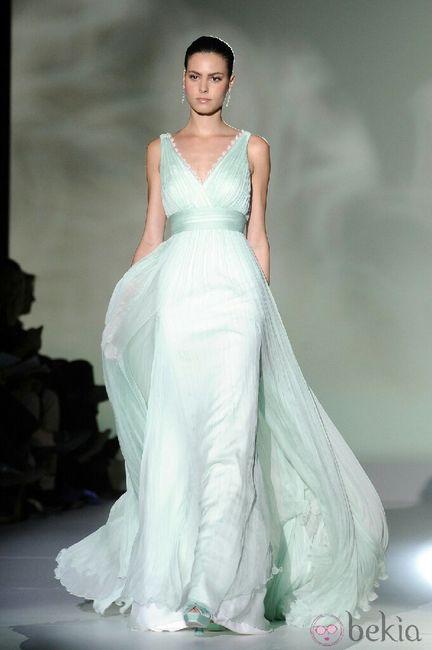 Vestido de novia verde, lo llevarías? - 2