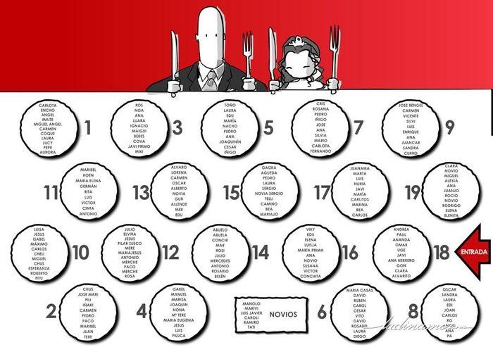 Plantilla para distribucion de mesas - Manualidades - Foro Bodas.net