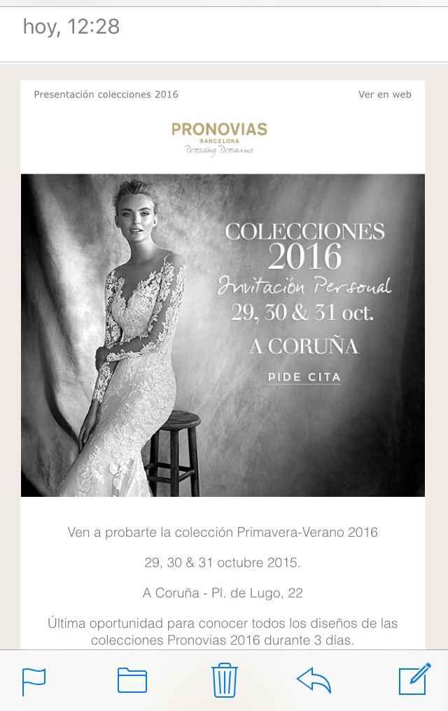 Evento colección pronovias 2016 - 1