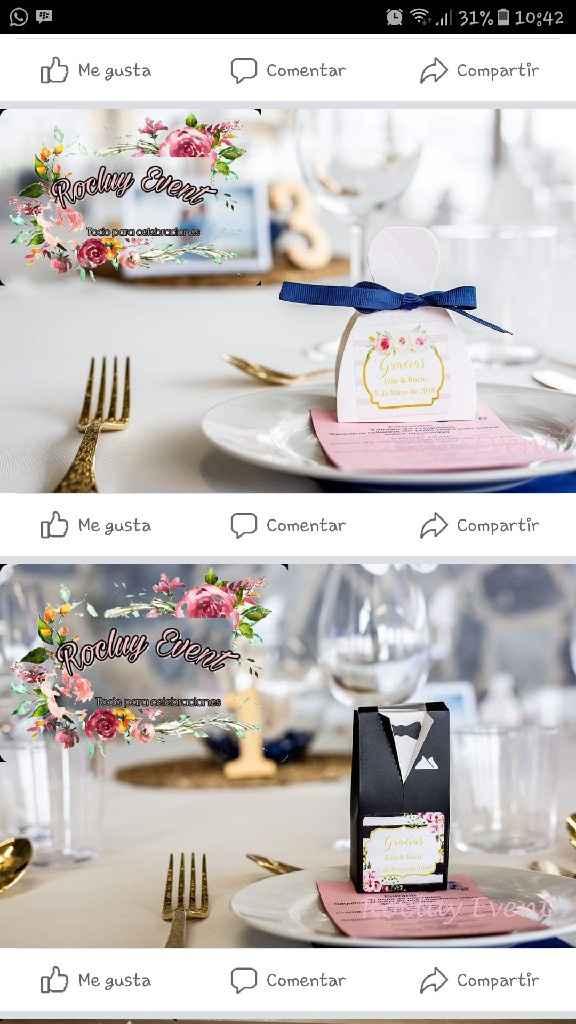 Mirando los detallitos de nuestra boda ! - 1
