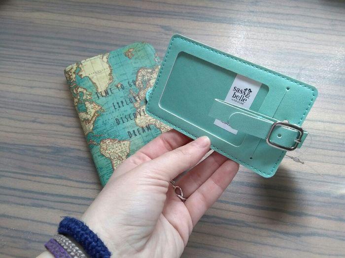 Portapasaporte y marcador de maleta de asos 2