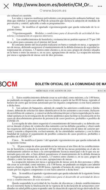 Medidas BOCM Madrid 1