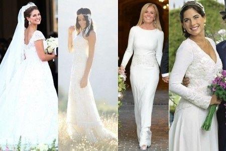 Estilos de vestidos de novias famosas