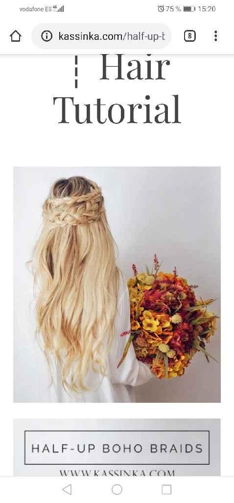 Adorno pelo a juego con colgante e ideas de peinado - 3