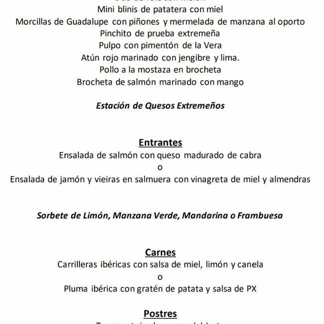 Dudas al escoger menú en Hospes Palacio de Arenales - 1