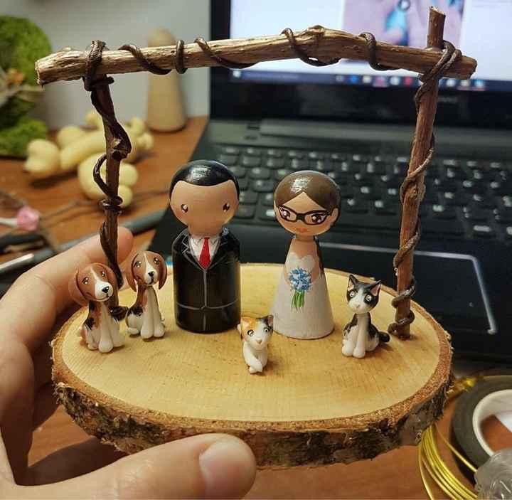 Muñequitos tarta de boda - 1