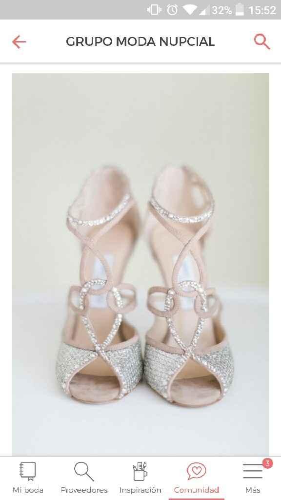 Enamorada de estos zapatos para mi día b - 1