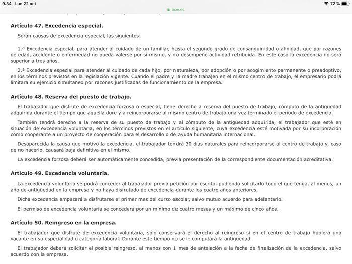Excedencia Convenio Enseñanza Murcia