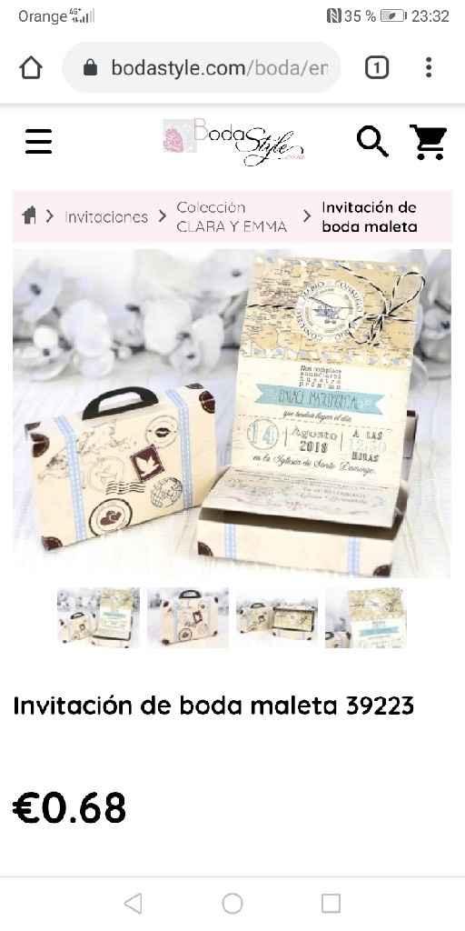 Invitaciones maleta - 2
