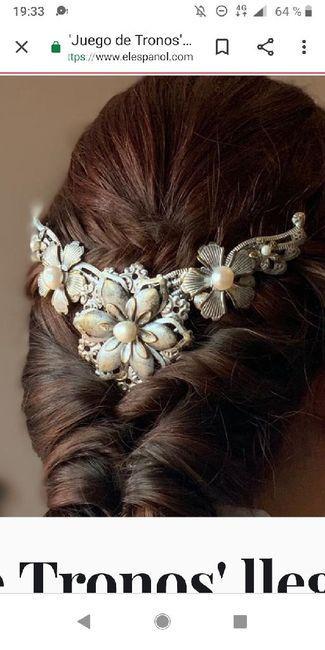 Tiaras,tocados de flores,pedrería,plata,dorado...cual eligiriais?? 3
